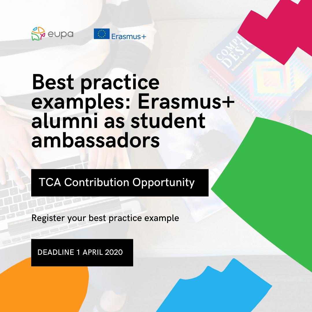 Best Practice Examples: Erasmus+ alumni as student ambassadors – TCA Contribution Opportunity
